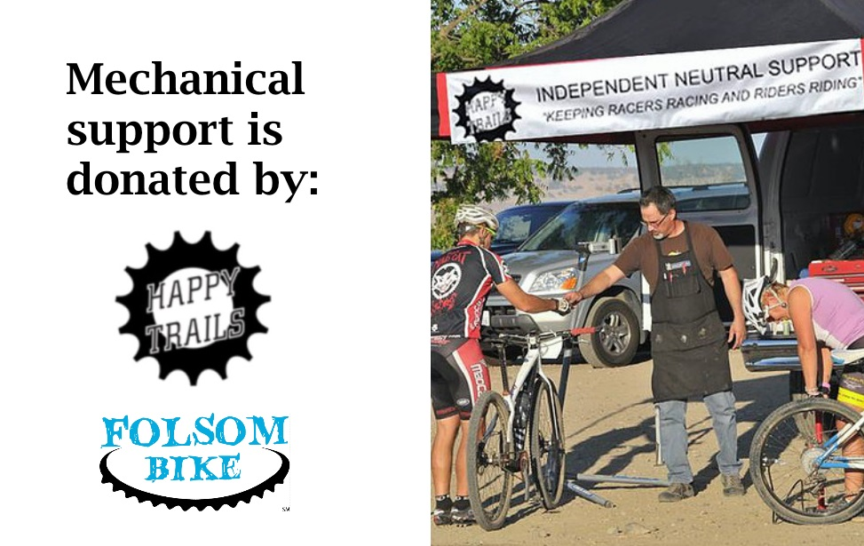 Happy Trails Mechanical Support, in conjunction with Folsom Bike, is donating their time to provide mechanical support